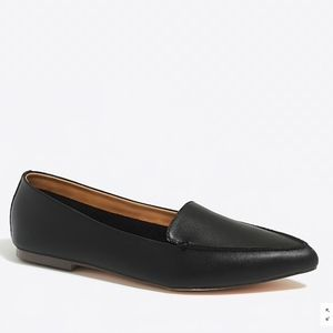 NEW J Crew Black Edie Leather Loafers Shoes 8.5